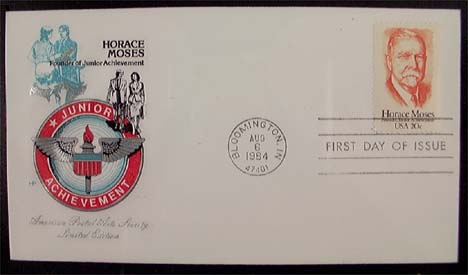 2095 20c Horace A Moses American Postal Arts Society Cachet Item 1233716 See Other Covers By This Maker